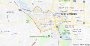 Map fo Franklinton Ohioi